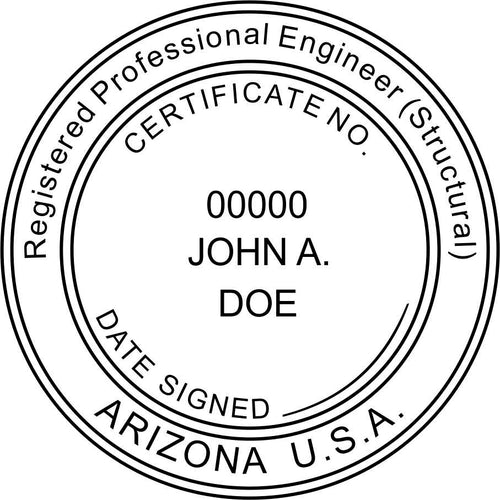 Arizona Engineer Stamp and Seal - Prostamps