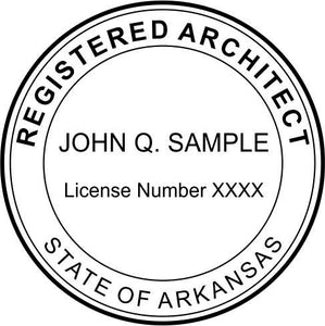 Arkansas Architect Stamp and Seal - Prostamps