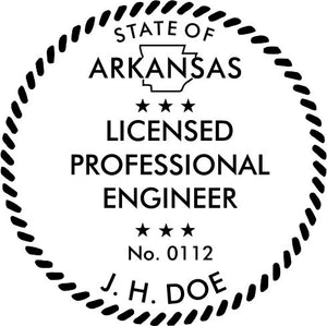 Arkansas Engineer Stamp and Seal - Prostamps