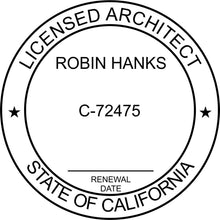 California Architect Stamp and Seal - Prostamps