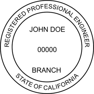 California Engineer Stamp and Seal - Prostamps