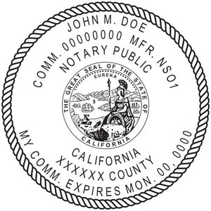 California Notary Stamp and Seal