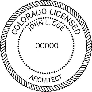 Colorado Architect Stamp and Seal - Prostamps