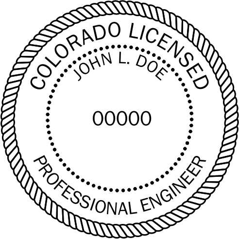 Colorado Engineer Stamp and Seal - Prostamps