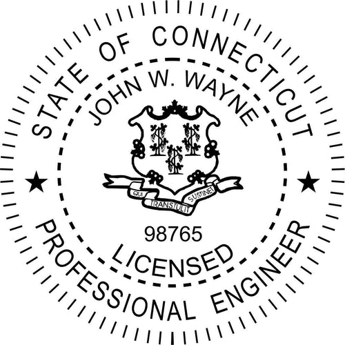 Connecticut Engineer Stamp and Seal - Prostamps