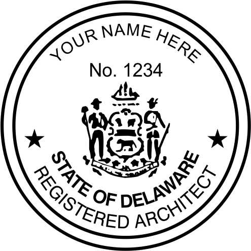Delaware Architect Stamp and Seal - Prostamps