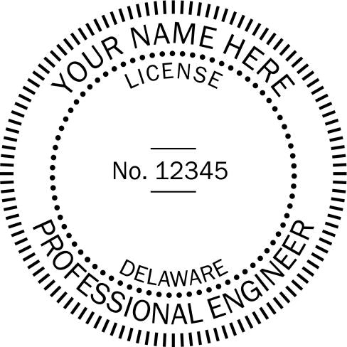 Delaware Engineer Stamp and Seal - Prostamps