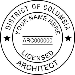 District of Columbia Architect Stamp and Seal - Prostamps