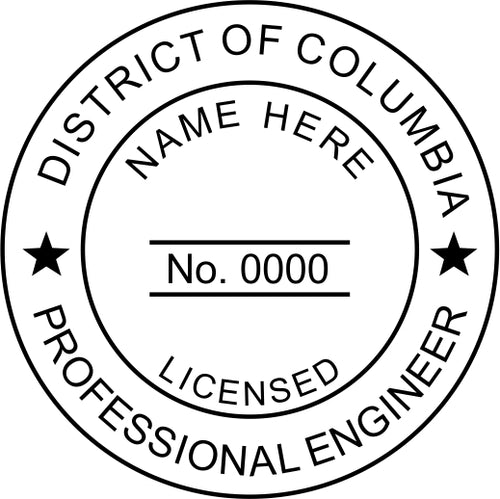 District of Columbia Engineer Stamp and Seal - Prostamps
