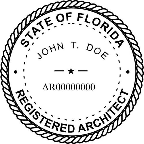 Florida Architect Stamp and Seal - Prostamps