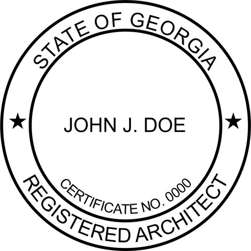 Georgia Architect Stamp and Seal - Prostamps