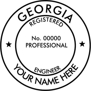 Georgia Engineer Stamp and Seal - Prostamps