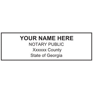 Georgia Notary Stamp and Seal - Prostamps