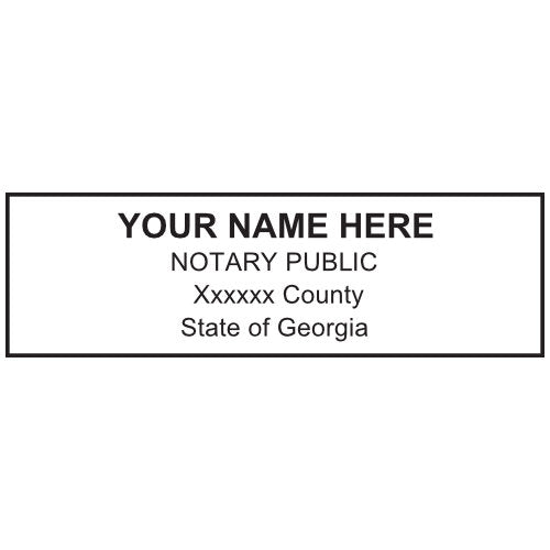 Georgia Notary Stamp and Seal