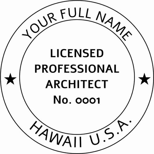 Hawaii Architect Stamp and Seal - Prostamps