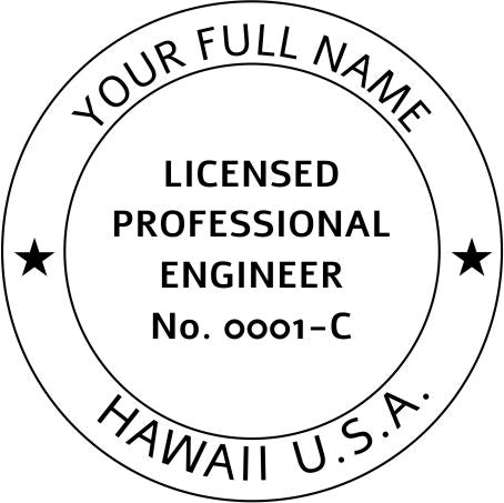 Hawaii Engineer Stamp and Seal - Prostamps