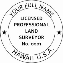 Hawaii Land Surveyor Stamp and Seal - Prostamps