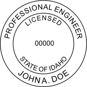 Idaho Engineer Stamp and Seal - Prostamps