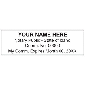 Idaho Notary Stamp and Seal