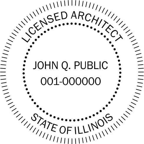 Illinois Architect Stamp and Seal - Prostamps