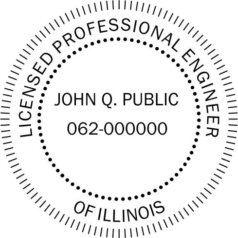 Illinois Engineer Stamp and Seal - Prostamps