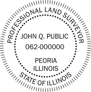 Illinois Land Surveyor Stamp and Seal - Prostamps