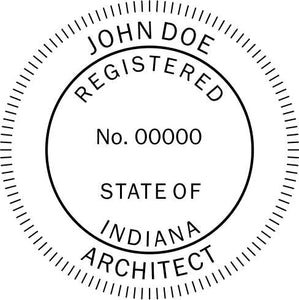 Indiana Architect Stamp and Seal - Prostamps
