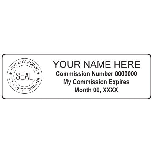 Indiana Notary Stamp and Seal - Prostamps