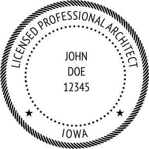Iowa Architect Stamp and Seal - Prostamps