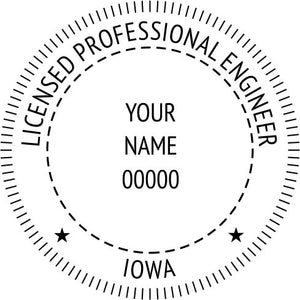 Iowa Engineer Stamp and Seal - Prostamps