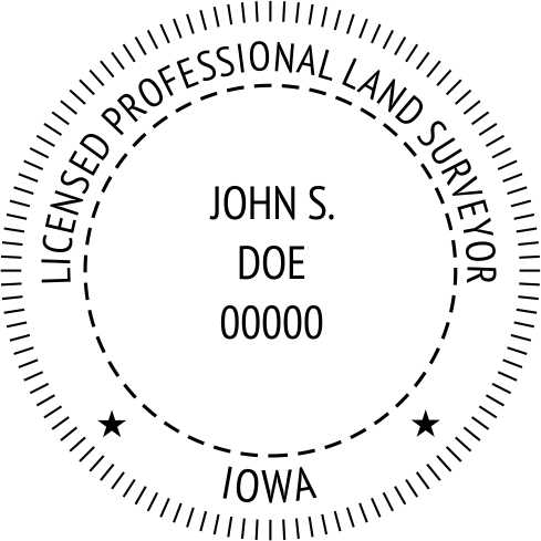 Iowa Land Surveyor - Prostamps