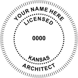 Kansas Architect Stamp and Seal - Prostamps