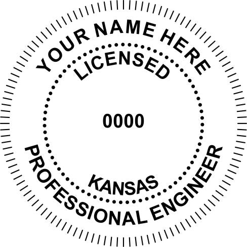 Kansas Engineer Stamp and Seal - Prostamps