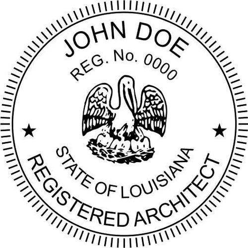 Louisiana Architect Stamp and Seal - Prostamps