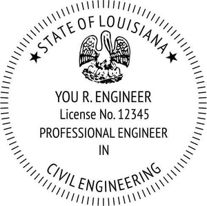 Louisiana Engineer Stamp and Seal - Prostamps