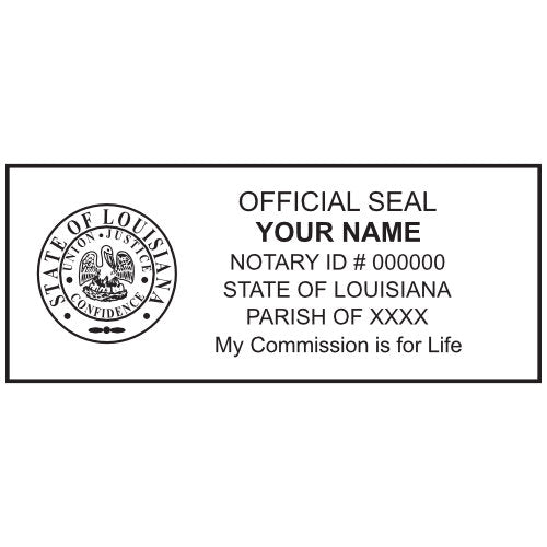 Louisiana Notary Stamp and Seal