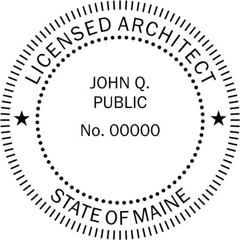 Maine Architect Stamp and Seal - Prostamps