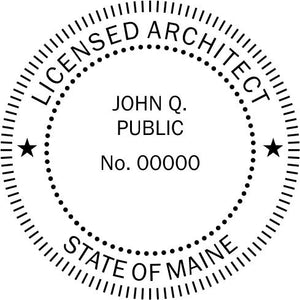 Maine Architect - Prostamps