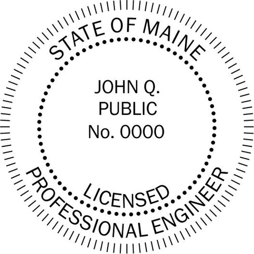 Maine Engineer Stamp and Seal - Prostamps