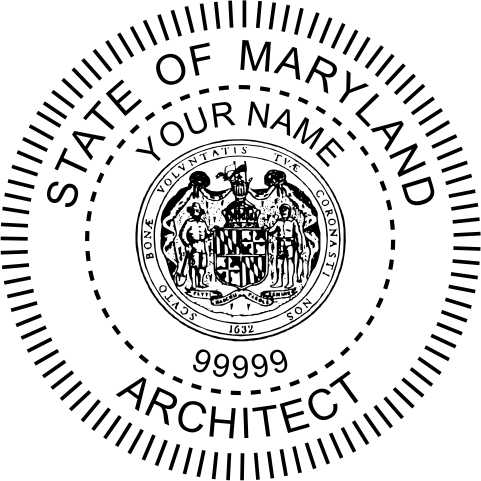 Maryland Architect Stamp and Seal - Prostamps