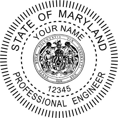 Maryland Engineer Stamp and Seal - Prostamps