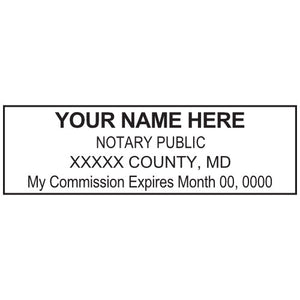 Maryland Notary Stamp and Seal - Prostamps