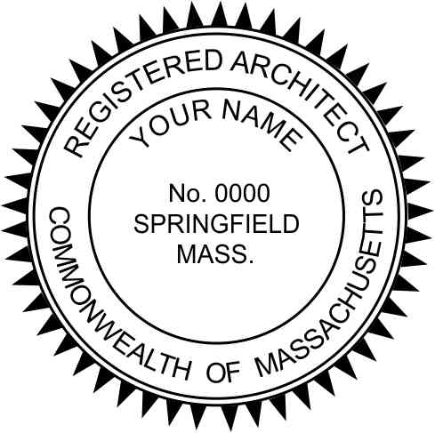 Massachusetts Architect Stamp and Seal - Prostamps