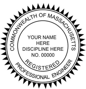 Massachusetts Engineer Stamp and Seal - Prostamps