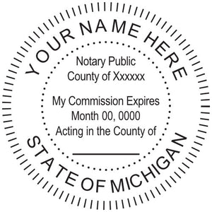 Michigan Notary Stamp and Seal