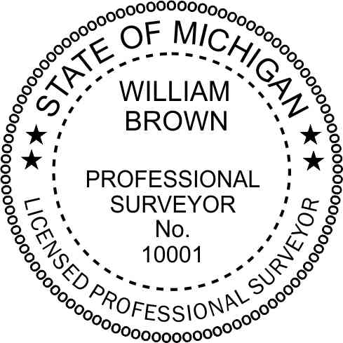 Michigan Land Surveyor - Prostamps