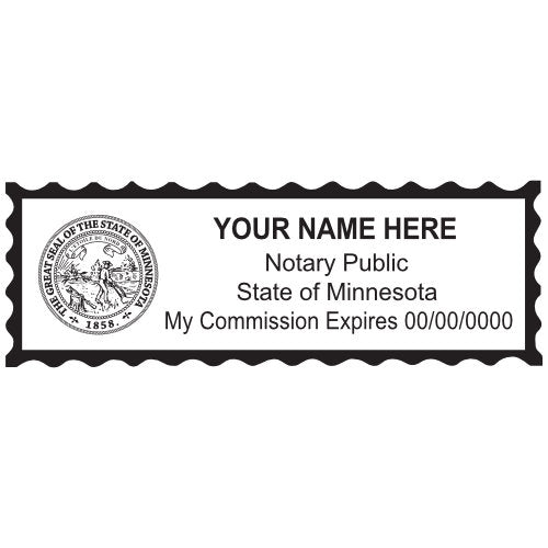 Minnesota Notary Stamp and Seal - Prostamps