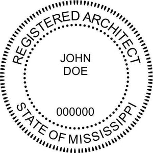 Mississippi Architect Stamp and Seal - Prostamps