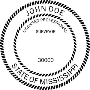 Mississippi Land Surveyor - Prostamps