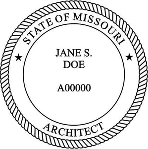 Missouri Architect Stamp and Seal - Prostamps